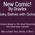 Goku bathes with Gohan - Oravlex comic
