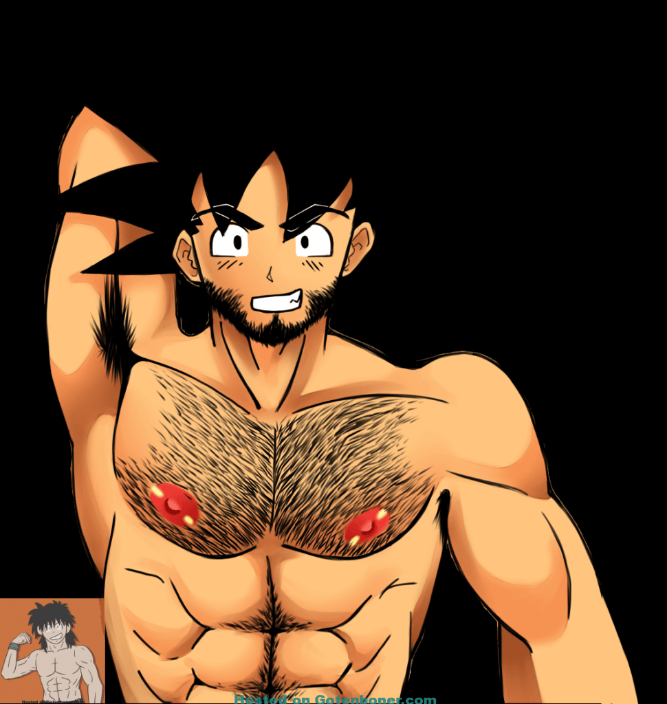 Hairy Goku with Facial Hair