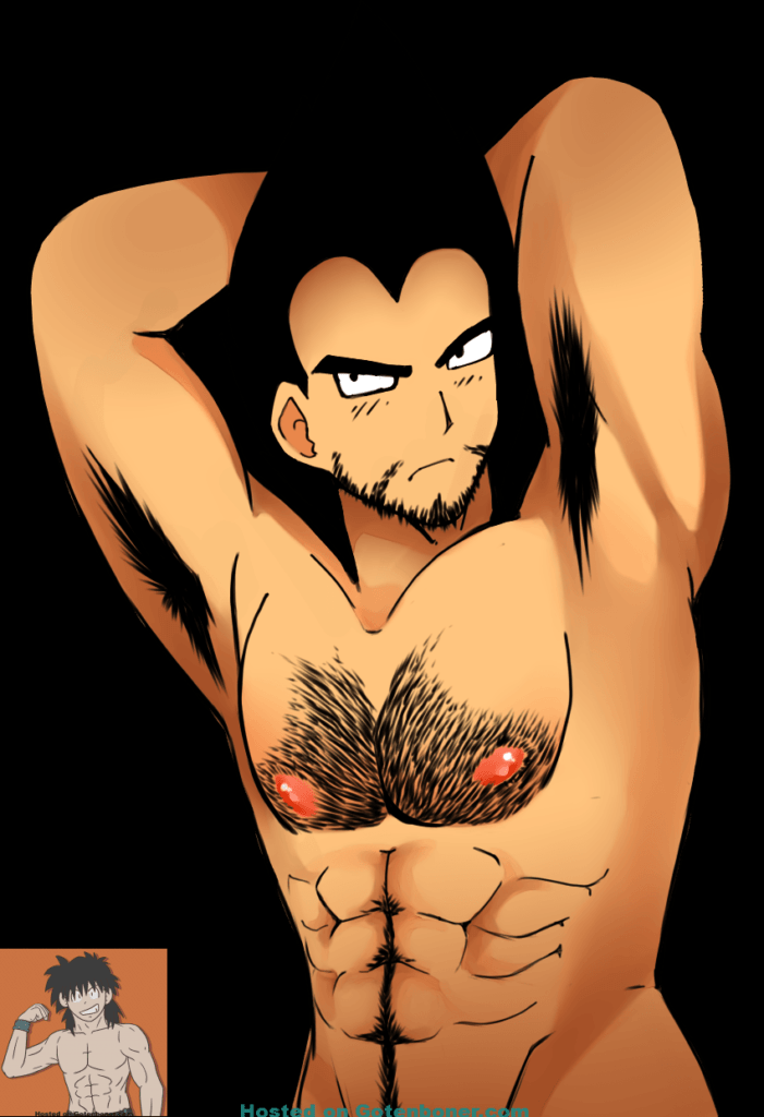 Hairy Vegeta with Facial Hair