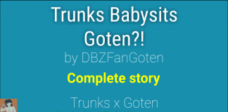 Trunks Babysits Goten by DBZFanGoten shota
