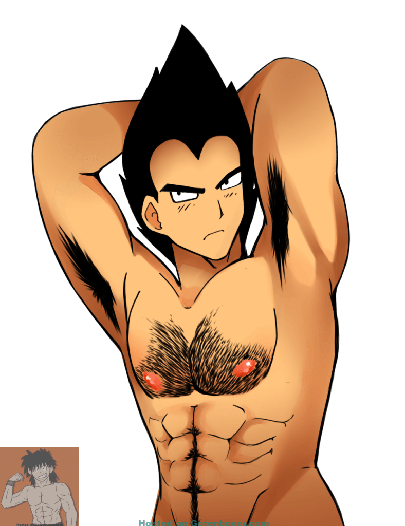 Vegeta hairy chest and pits
